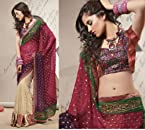 Beautiful Collarge Colors, Embroidered Saree-1622