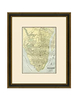 Antique Lithographic Map of Charleston, 1883-1903