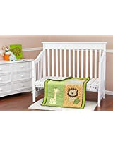 Dream On Me 3 Piece Crib Bedding Set, Safari Animals