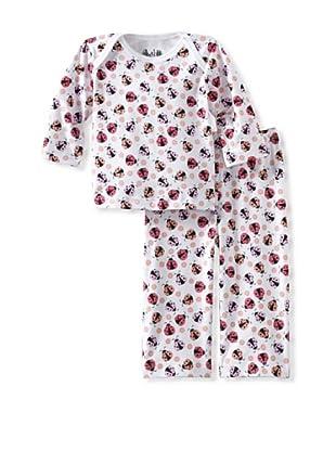 Margery Ellen Baby Pima Cotton Tee Set with Print (Ladybug)
