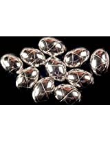 Incised Diamonds Beads (Price Per Piece) - Sterling Silver