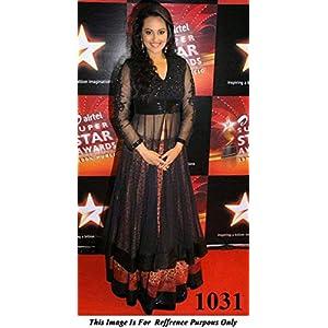 Sonakshi Sinha In Black Anarkali Suit