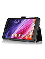 VSTN ® ASUS Fonepad 8 FE380CG / FE380CXG Multi-Angle Stand Slim-Book PU Leather Cover Case with Hand Strap&Card Holder (For ASUS Fonepad 8 FE380CG / FE380CXG, Black)