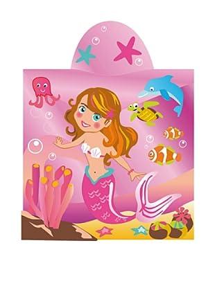 Art Experience Poncho Mermaid Fucsia 60 x 120