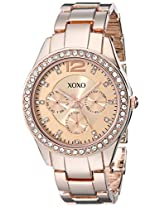 XOXO Women's XO5477 Rose Gold Bracelet With Rhinestones Accent Bezel Watch