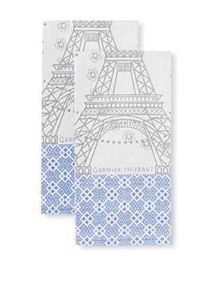 Garnier-Thiebaut Set of 2 Tour Eiffel Kitchen Towels, Fer, 22