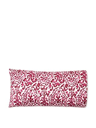 Edmond Frette Procida Print Pillowcase (Burgundy/Ivory)