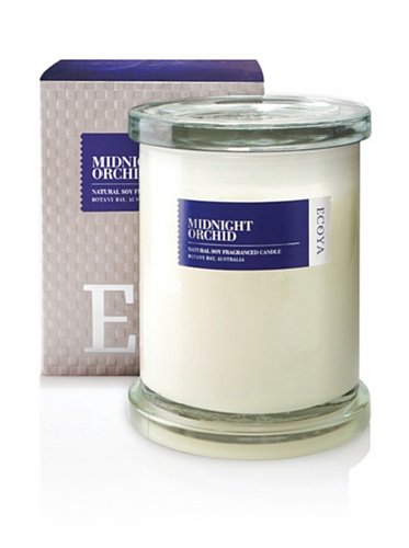 Ecoya Botanicals Metro Jar Scented Candle in Midnight Orchid Fragrance