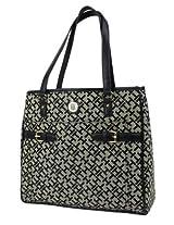 Tommy Hilfiger Tom-1935 Shoulder Bag For Women {Black, Leather}