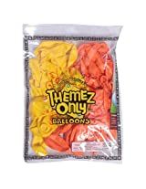 "Themez Only Rubber Play balloon -9"" theme color bulk pack"