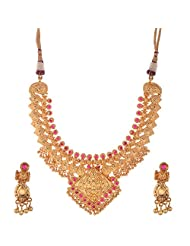 Jeweleteria Jade Stones Gold Plated Metal Alloy Necklace Set For Women - B00MGRGDS8