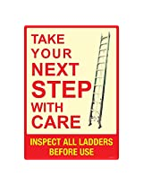 Ladder Safety, (ST811-A2NT-01), Material: NT Polystyrene Polystyrene