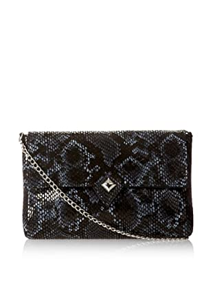 Possé Women's London Cross-Body, Black/White Snake