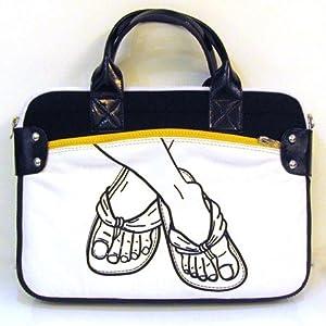 Flip Flop Laptop Bag in White