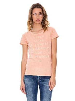 Pepe Jeans London T-Shirt Bande (Rosa)