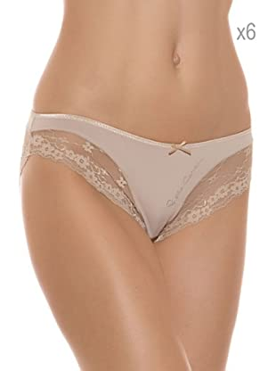 Pierre Cardin Pack x 6 Braguitas Bikini (Piel)