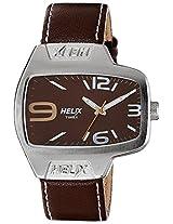 Helix Analog Brown Dial Men's Watch - TI020HG0200