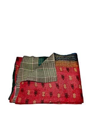 Vintage Preeti Kantha Throw, Multi, 60