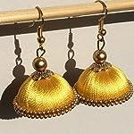 Yellow Silk Thread Jhumki Earring