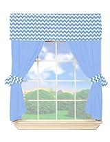 Baby Doll Chevron Valance Curtain Set, Green
