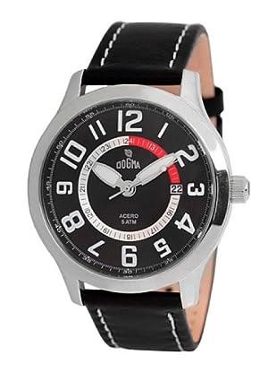 Dogma G7030 - Reloj de Caballero movimiento de quarzo con correa de piel rojo