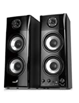 Genius 50 Watt Three-way Hi-Fi Wood Speakers (SP-HF1800A)