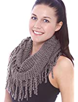 Unisex Warm Infinity Circle Scarf Cable Knit Cowl Neck Long Loop Scarf Shawl