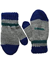 Diesel Baby Boys' Nafrib Boys' Ribbed Knit Mitten with Logo, Melange, 03 Months