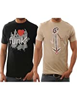Funktees 100% Cotton M Size T-Shirts for Men - Pack of 2