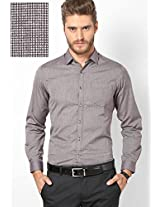 Solid Brown Formal Shirt