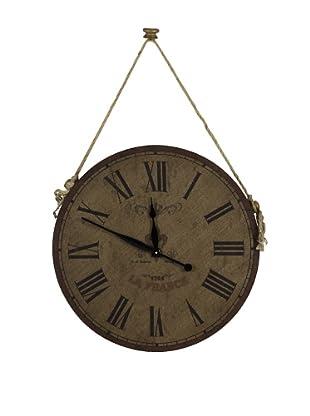 Cooper Classics Jaybrook Wall Clock, Natural