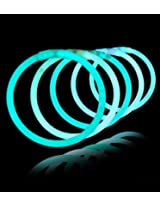 "8"" Lumistick Glowsticks Glow Stick Bracelets Aqua (Tube Of 100)"