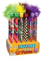 Raymond Geddes Zooker Wacky Tip Topz Pencil, 24 Pack (69842)