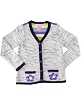 Design History Daisy Cardigan (Toddler/Kid) - Catalina Blue-4
