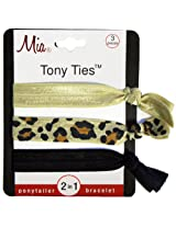 Mia Tony Ties, Beige, Leopard, Black
