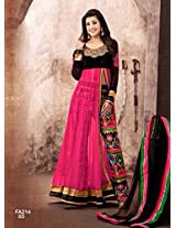 Atmiya fashion By The New Designer Attractive Pink And Black Anarkali Suit