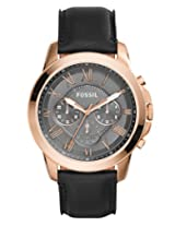 Fossil Grant Analog Grey Dial Men's Watch - FS5085
