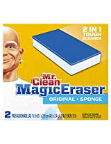 Mr. Clean Magic Eraser+Sponge 2 count(Pack of 12)