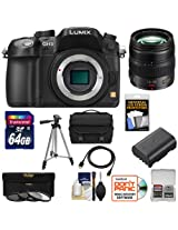 Panasonic Lumix DMC-GH3 Micro Four Thirds Digital Camera Body (Black) with 12-35mm f/2.8 OIS Zoom Lens + 64GB Card + Battery + Case + 3 UV/CPL/ND8 Filters + Tripod + HDMI Cable + Accessory Kit