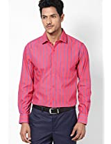 Red Full Sleeve Formal Shirt Peter England