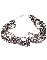 925-Silver Garnet Chokar Necklace