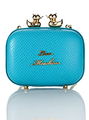 Love Moschino Pochette Lizard (Blau)