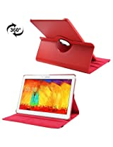 360 Degree Rotatable Litchi Texture Leather Case with 3-angle Viewing Holder for Samsung Galaxy Note & Tab Pro 12.2 / P900 (Red)