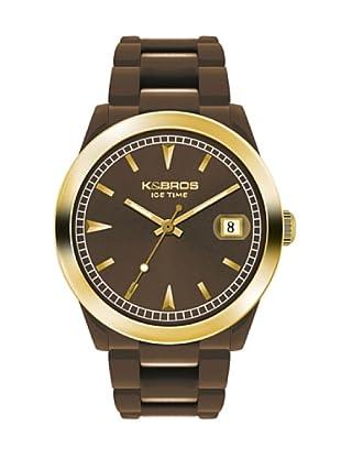 K&BROS 9539-10 / Reloj Unisex  con correa de caucho Marrón