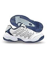 Nivia Men's Zeal PU White Tennis Shoes - 11 UK