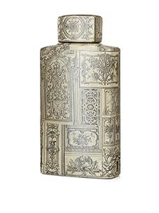 Venezia Renaissance Covered Porcelain Jar - Medium (Cream/Black)
