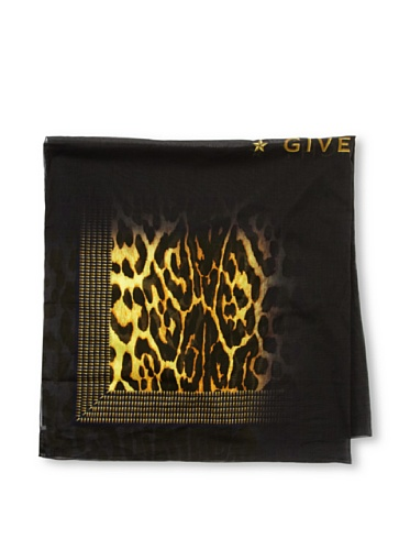 Givenchy Women's Shaded Leopard Scarf, Black