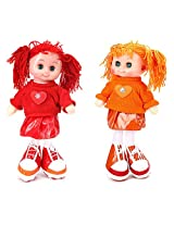 Tickles Blue,Orange Cute Doll Stuffed Soft Plush Toy Love Girl 30 cm