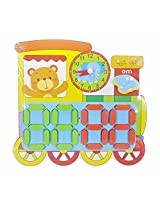 Wooden Clock Puzzle Digital and Analogue- Train - 29 cm X 28cm
