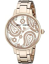 Betsey Johnson Women's BJ00501-28 Analog Display Quartz Rose Gold Watch